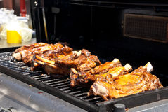 Barbecue Ribs Cooking Royalty Free Stock Images