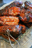 Barbecue Ribs for the family meals Royalty Free Stock Image