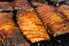 Barbecue Ribs on the Grill Stock Photo