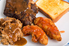 Barbecue Ribs Pork and Chicken Royalty Free Stock Photography