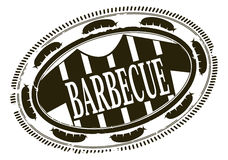 Barbecue rubber stamp Royalty Free Stock Photo
