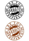 Barbecue rubber stamp Royalty Free Stock Photography