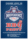 Barbecue's party invitation and response card Royalty Free Stock Images