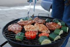 Barbecue sain de vitalité Images libres de droits