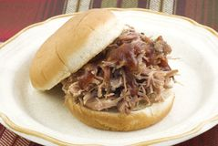 Barbecue Sandwich royalty free stock images