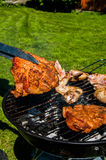 Barbecue saturated composition Stock Photo