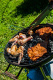 Barbecue saturated composition Royalty Free Stock Photos