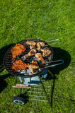 Barbecue saturated composition Stock Image
