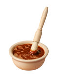Barbecue Sauce (with clipping path) Royalty Free Stock Photography