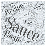 Barbecue sauce recipe 33 word cloud concept vector background Stock Photo