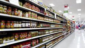 Barbecue sauces corridor stock video