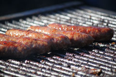 Barbecue Sausage. Sausage on the grill on a warm summer day Royalty Free Stock Photo