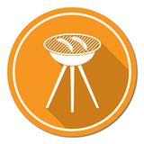 Barbecue sausage icon Stock Photos