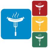 Barbecue sausage icon Stock Image