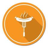 Barbecue sausage icon Royalty Free Stock Image