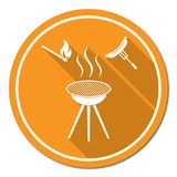 Barbecue sausage icon Stock Photography