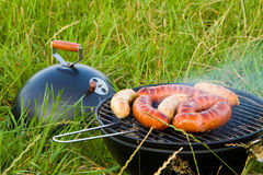 Barbecue sausages Royalty Free Stock Photography