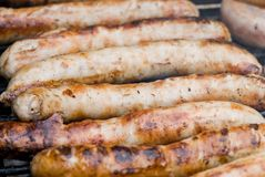 Barbecue Sausages Royalty Free Stock Photo