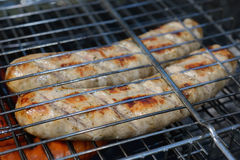 Barbecue sausages Royalty Free Stock Photos