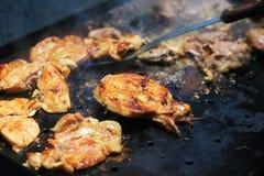 Barbecue savoureux de poulet Image stock