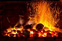 Barbecue scintillante Immagini Stock Libere da Diritti