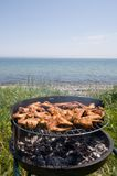 Barbecue & sea Stock Photo