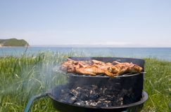 Barbecue & sea Royalty Free Stock Photo