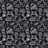 Barbecue seamless pattern royalty free stock photo