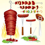Barbecue set Stock Photos