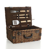 Barbecue set basket Stock Images