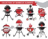Barbecue set Stock Photos