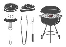 Barbecue set Royalty Free Stock Images