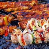 Barbecue shashlik Stock Photo