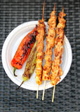 Barbecue. Shish kebab and grilled peppers Stock Photo