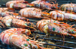 Barbecue Shrimps Royalty Free Stock Photography