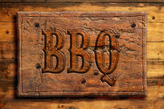 Barbecue signboard Royalty Free Stock Photo