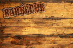 Barbecue signboard Royalty Free Stock Photography