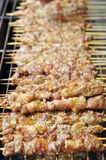Barbecue on skewer. Barbecue mutton on skewer roasted on grill,a kind of flavored asian snack stock images
