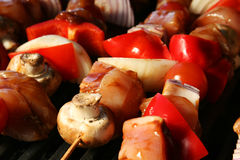Barbecue skewer Stock Image