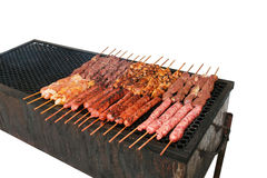 Barbecue skewers Royalty Free Stock Photos