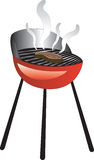 Barbecue Smoke Grill. With Juicy Meat or Steak Grilling Royalty Free Stock Image