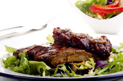 Barbecue spare ribs Stock Photography