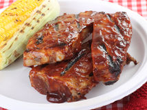 Barbecue Spareribs Royalty Free Stock Photos