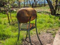 Barbecue spazioso casalingo Fotografia Stock