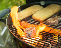 Barbecue Steak fire Stock Photography