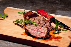 Barbecue steak with rosemary  Stock Photo