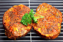 Barbecue steaks Royalty Free Stock Images