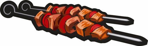 Barbecue steel Skewers royalty free illustration