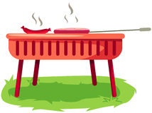 Barbecue stove. Illustration of isolated barbecue stove on white stock illustration