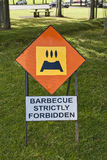 Barbecue strictly forbidden Stock Image